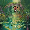 Mickey and Minnie at Giverny Giclee on Canvas