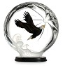 Soaring Hero Lucite figurine w/ wooden base (Limited Edition 288)