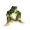 Amphibia frog mother & daughter figurine
