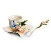 Fluttering Beauty flower and butterfly cup/saucer/spoon set