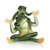 Amphibia frog father & son figurine