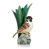 Tree Sparrow Bird Porcelain Hand Painted Small Vase