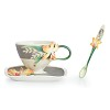 Magnificent Cattleya Orchid cup/saucer/spoon set