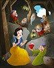 Snow White in Giclee On Canvas - From Disney Snow White and the Seven Dwarfs
