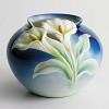 Double Calla Lily Collection Round Vase