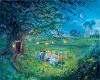 Poohs 80th Garden Party Hand Embellished Giclee On Canvas - From Disney Winnie the Pooh