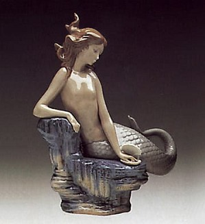 Lladro-Pearl Mermaid