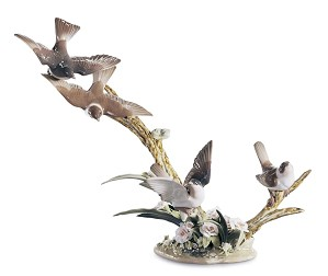Lladro-FLOCK OF BIRDS