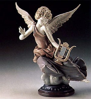 Lladro-Carefree Angel with Lyre