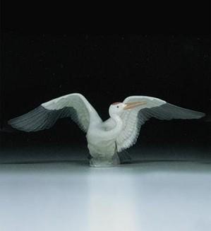 Lladro-Landing Crane
