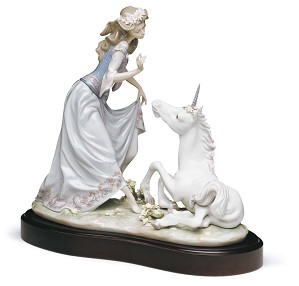 Lladro-PRINCESS AND UNICORN