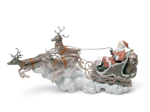 Lladro-Santa's Midnight Ride