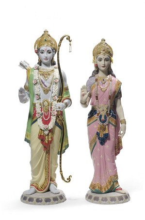 Lladro-Rama and Sita