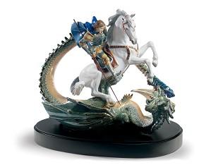Lladro-Saint George and The Dragon