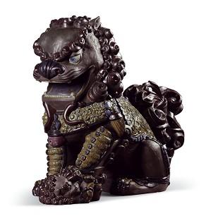Lladro-Oriental Lioness (Black)