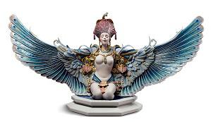 Lladro-Winged fantasy Woman