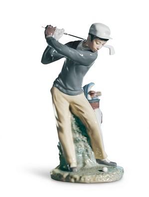 Lladro-Golfer