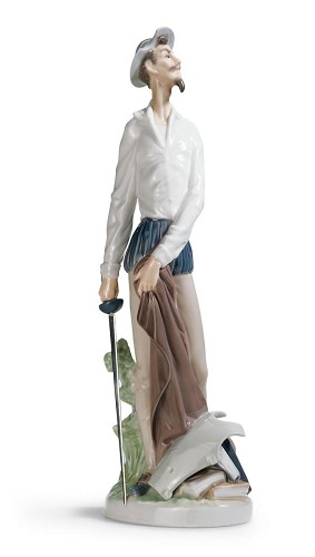 Lladro-Don Quixote Standing Up