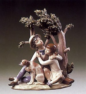 Lladro-Looking For Refuge
