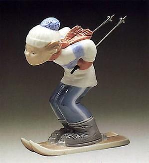 Lladro-Skier Puppet