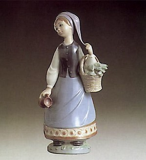 Lladro-Woman with Scarf