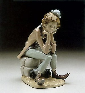 Lladro-Clown Thinking