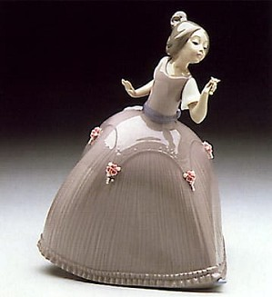 Lladro-Girl in Pink Dress