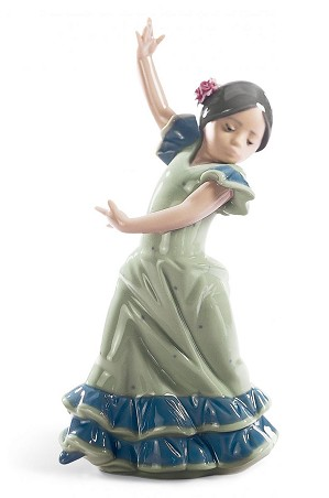 Lladro-Lolita Flamenco Dancer Girl Blue