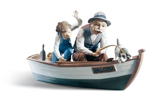 Lladro-Fishing with Gramps