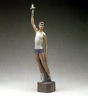 Lladro-Torch Bearer