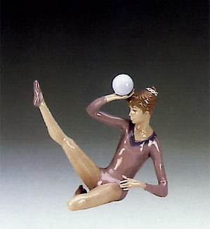 Lladro-Gymnast Balancing Ball