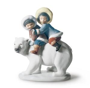 Lladro-Eskimo Riders