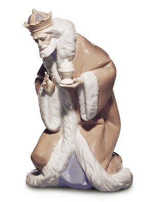 Lladro-King Melchior Nativity II