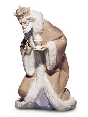Lladro-King Melchior Nativity II