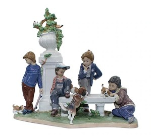 Lladro-Puppy Dog Tails