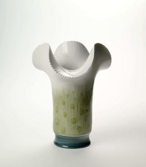 Lladro-Clover Vase - Green