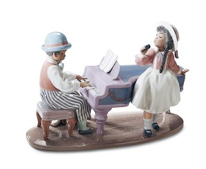 Lladro Black Legacy-JAZZ DUO