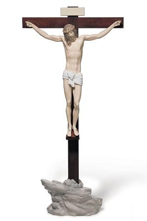 Lladro-Our Savior Crucifix Tabletop