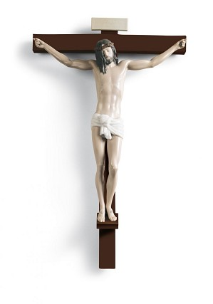 Lladro-Our Saviour Crucifix Wall Art