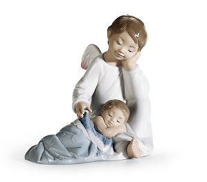 Lladro-My Guardian Angel Blue