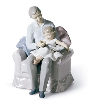 Lladro-Grandfather's Stories