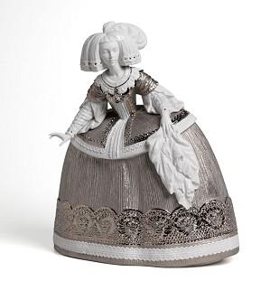 Lladro-La Menina Sculpture Silver Lustre