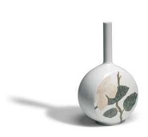 Lladro-Canvas Vase Flower Twig