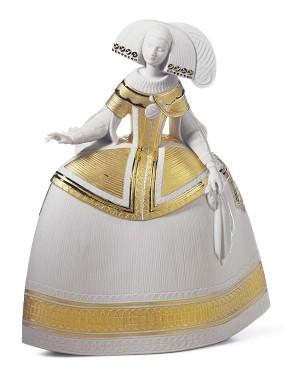 Lladro-Menina Gold