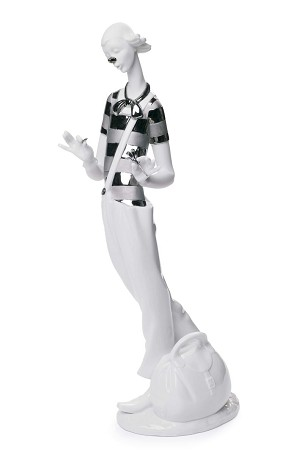 Lladro-Clown In Love (Re-Deco)