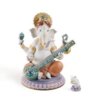 Lladro-Veena Ganesha