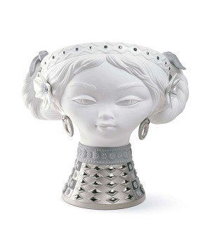 Lladro-BYZANTINE HEAD (SILVER AND WHITE)