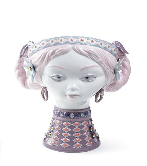 Lladro-BYZANTINE HEAD (COLOR)
