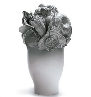 Lladro-Naturofantastic - Large Vase (Grey)