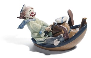 Lladro-Circus Waves Clown